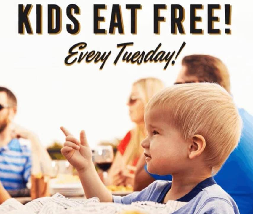 Kids Eat Free - Every Tuesday!