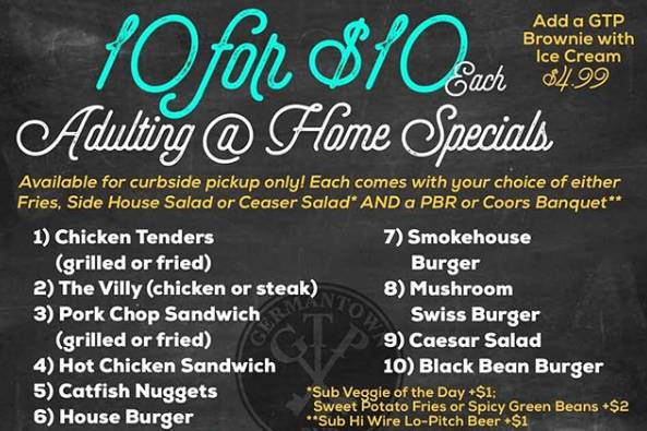 10 for $10 Adulting @ Home Specials