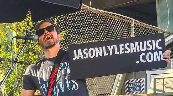 Jason Lyles on the Patio