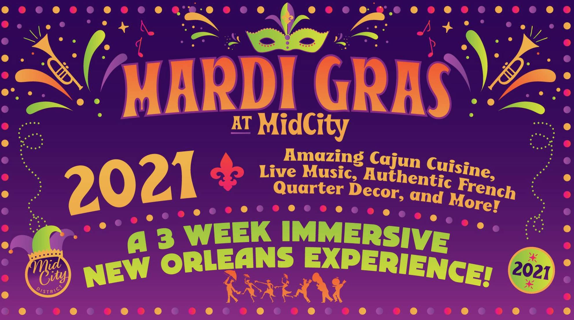 Mardi Gras at MidCity 2021