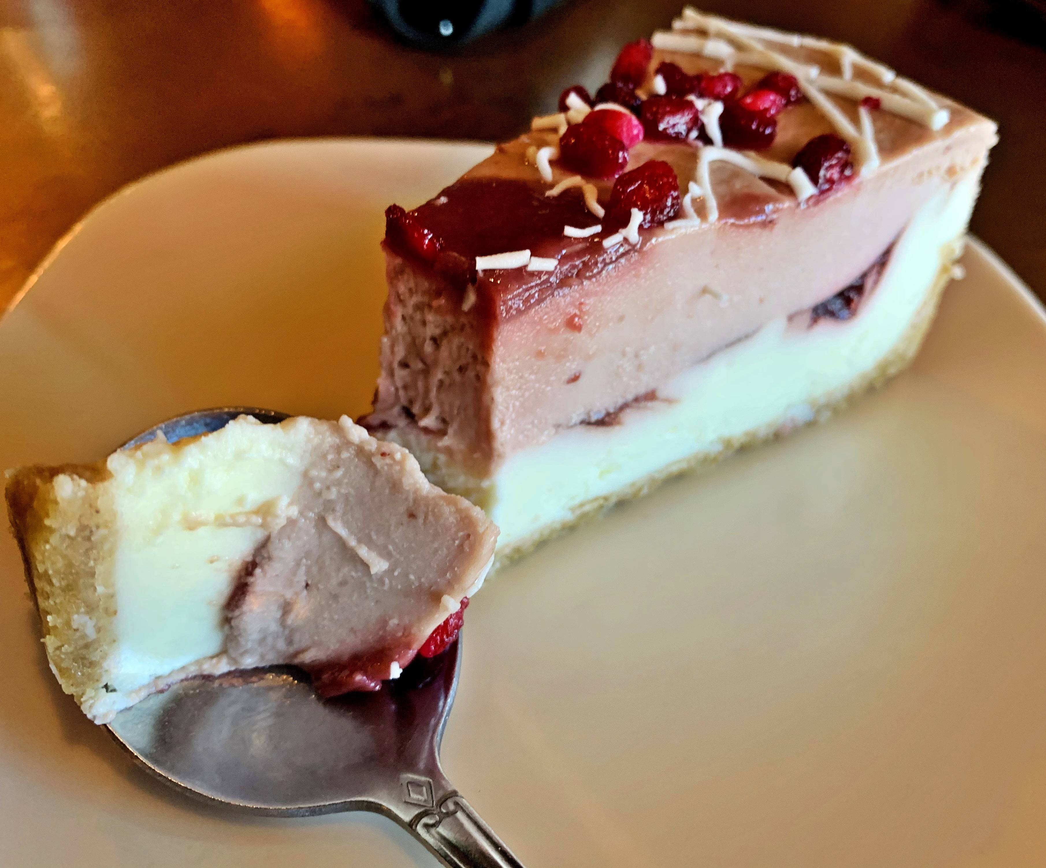 June & July Specials: Pomegranate Parfait Cheesecake