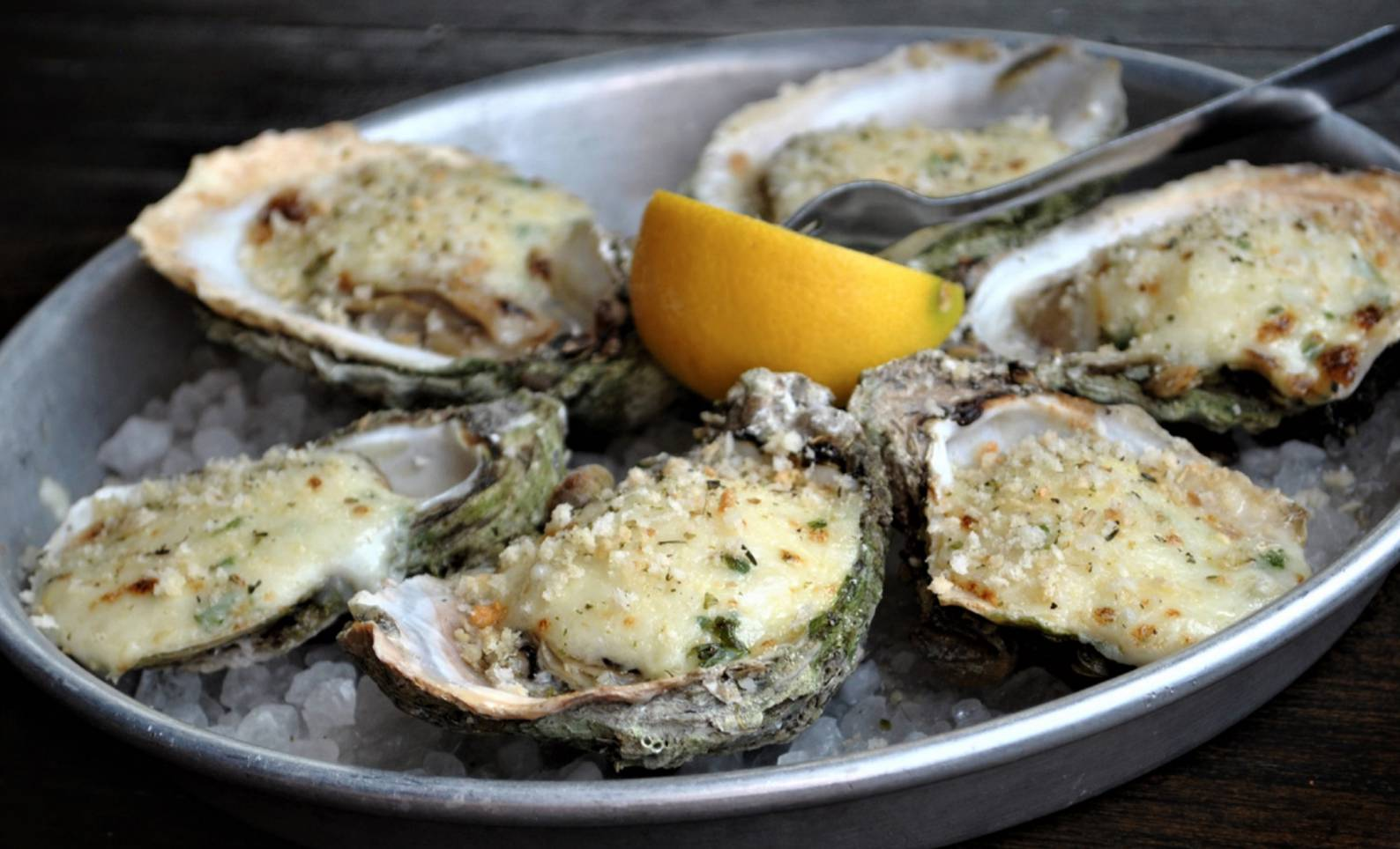 New Spring Menu Item - French 75 Oysters!