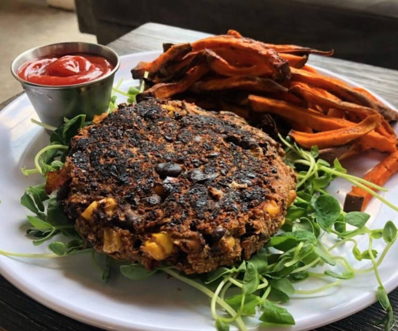 Weekly Special: Black Bean & Veggie Burger