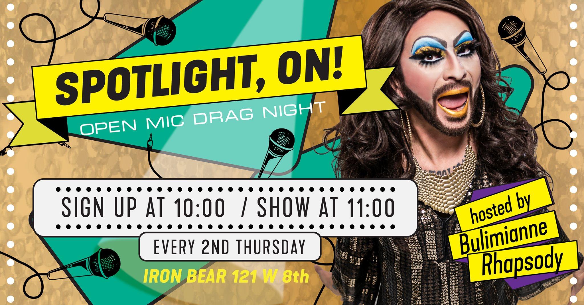 Spotlight, ON! Open Mic Drag Night