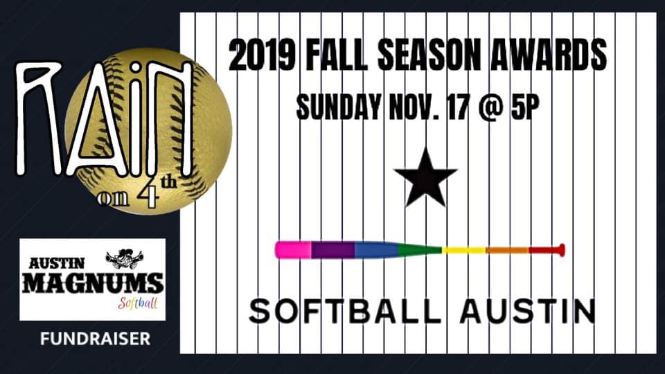 Softball Austin's 2019 Fall Season Awards