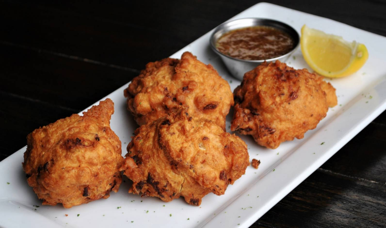 New Spring Menu Item -Creole Shrimp Fritters!
