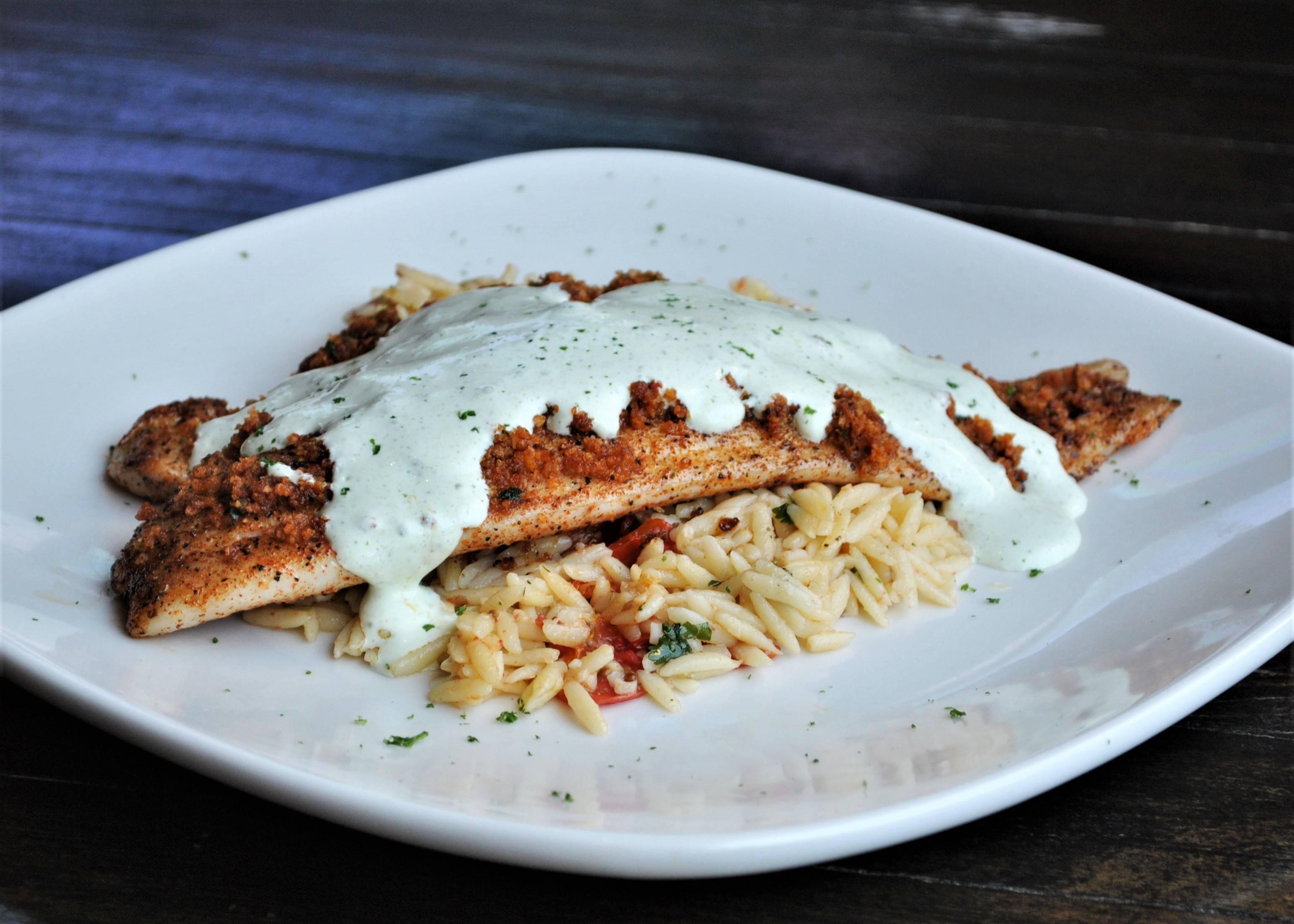 June & July Specials: Chorizo Encrusted Redfish