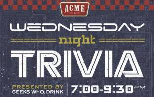 Trivia Presented by Devil's Backbone