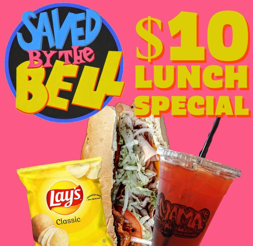 $10 Saved by the Bell Lunch Combo!