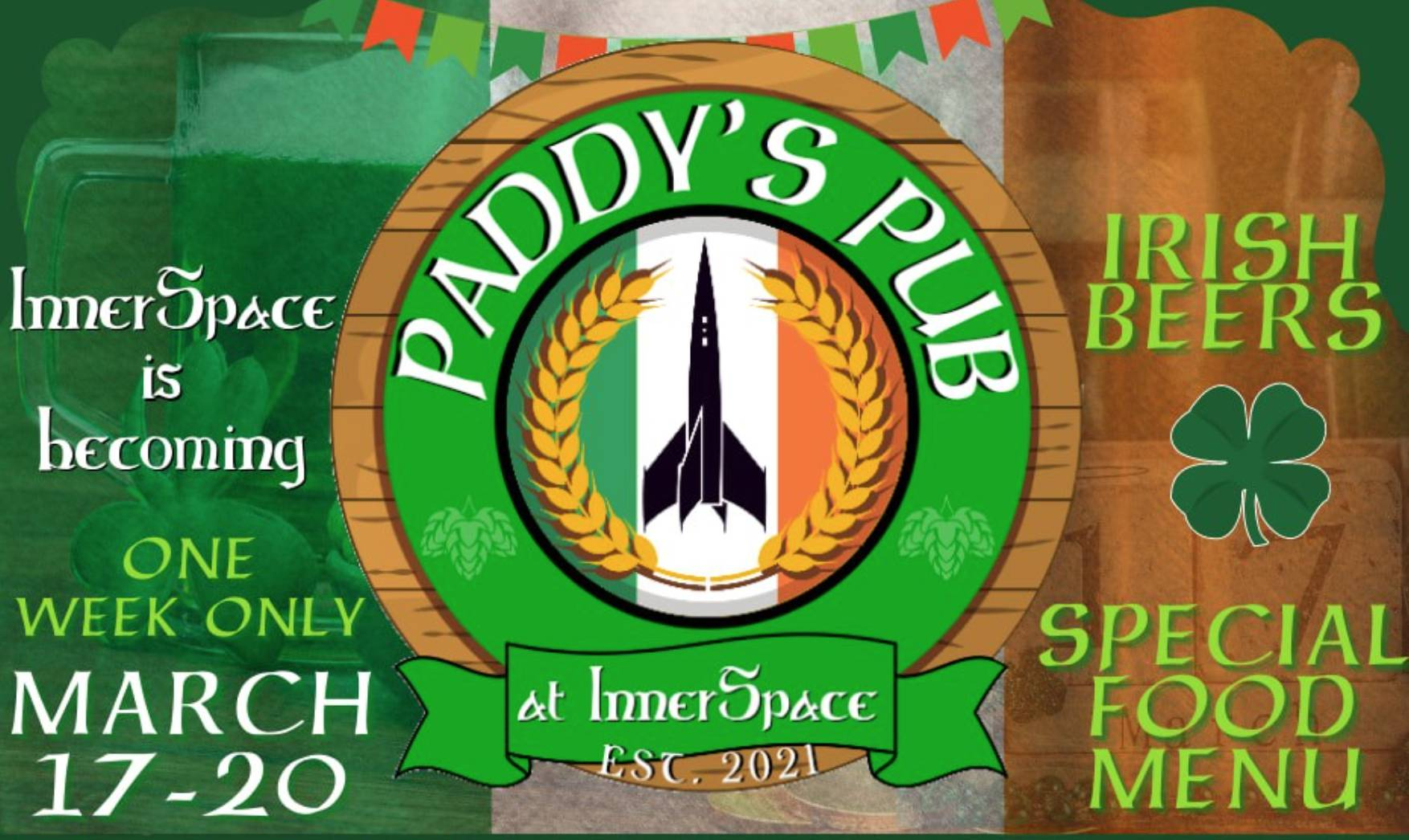 InnerSpace becomes Paddys Pub