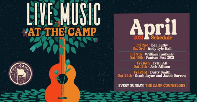 April Music at The Camp!