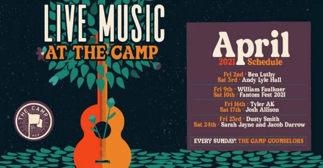 April Music at The Camp!