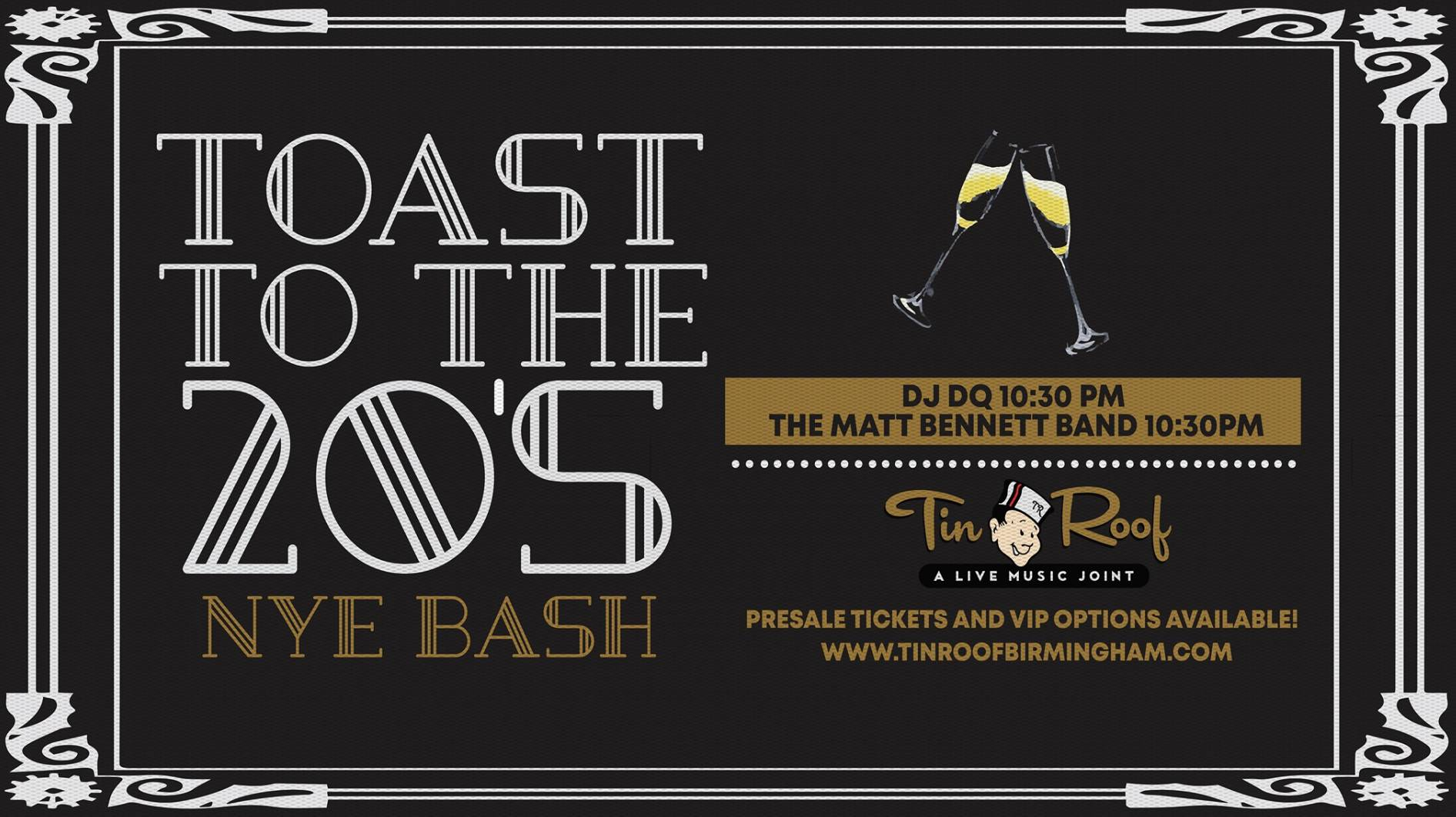 Toast to the 20s NYE Bash