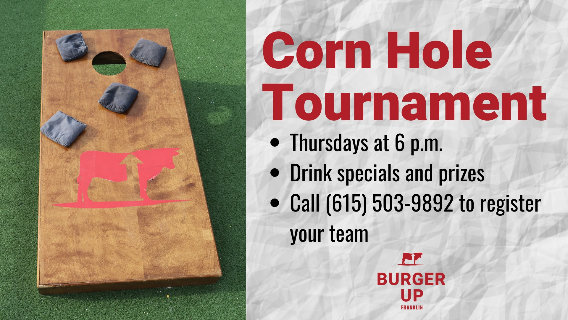 Summer Corn Hole Tournament