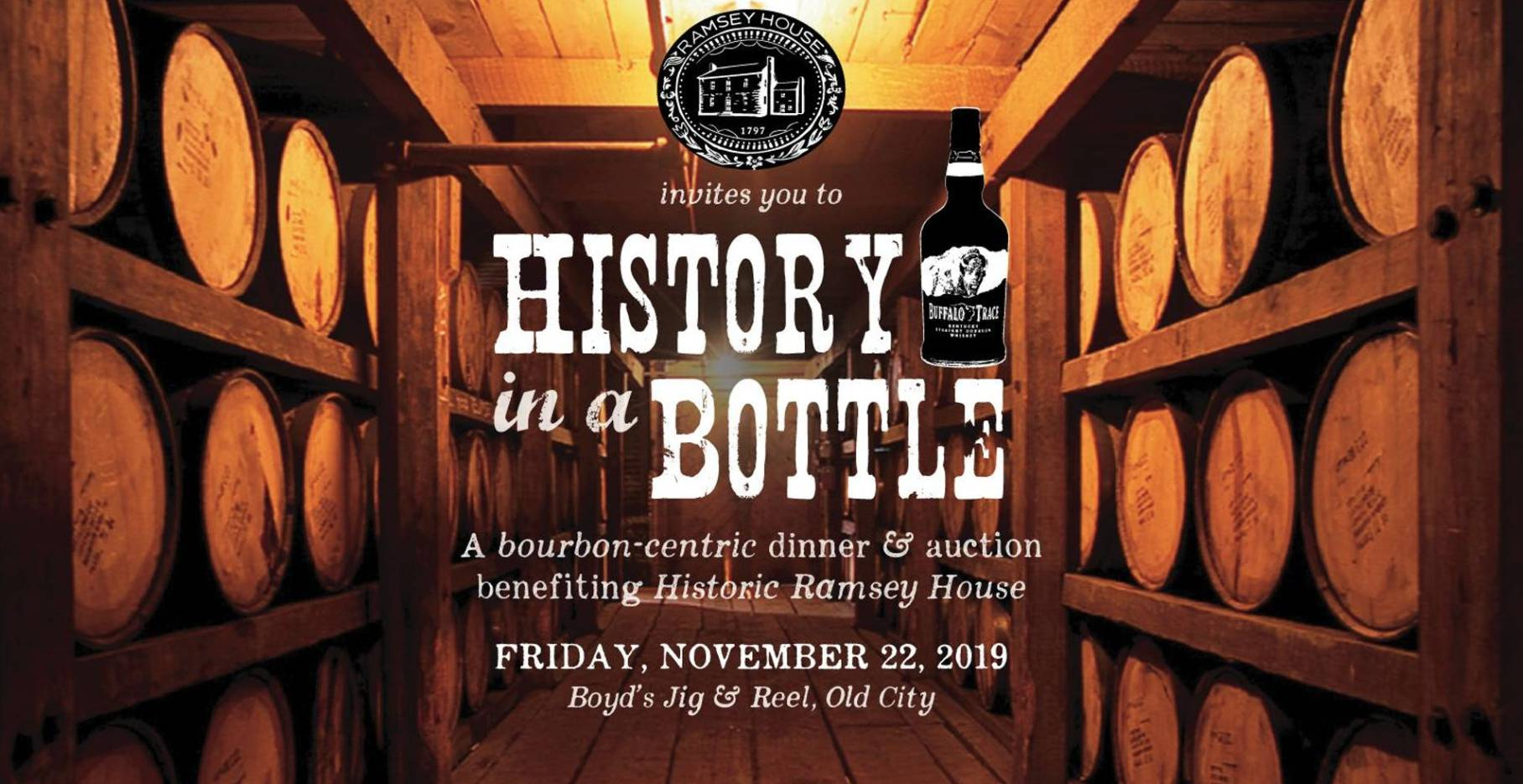 History in a Bottle: A Bourbon-Centric Dinner and Auction