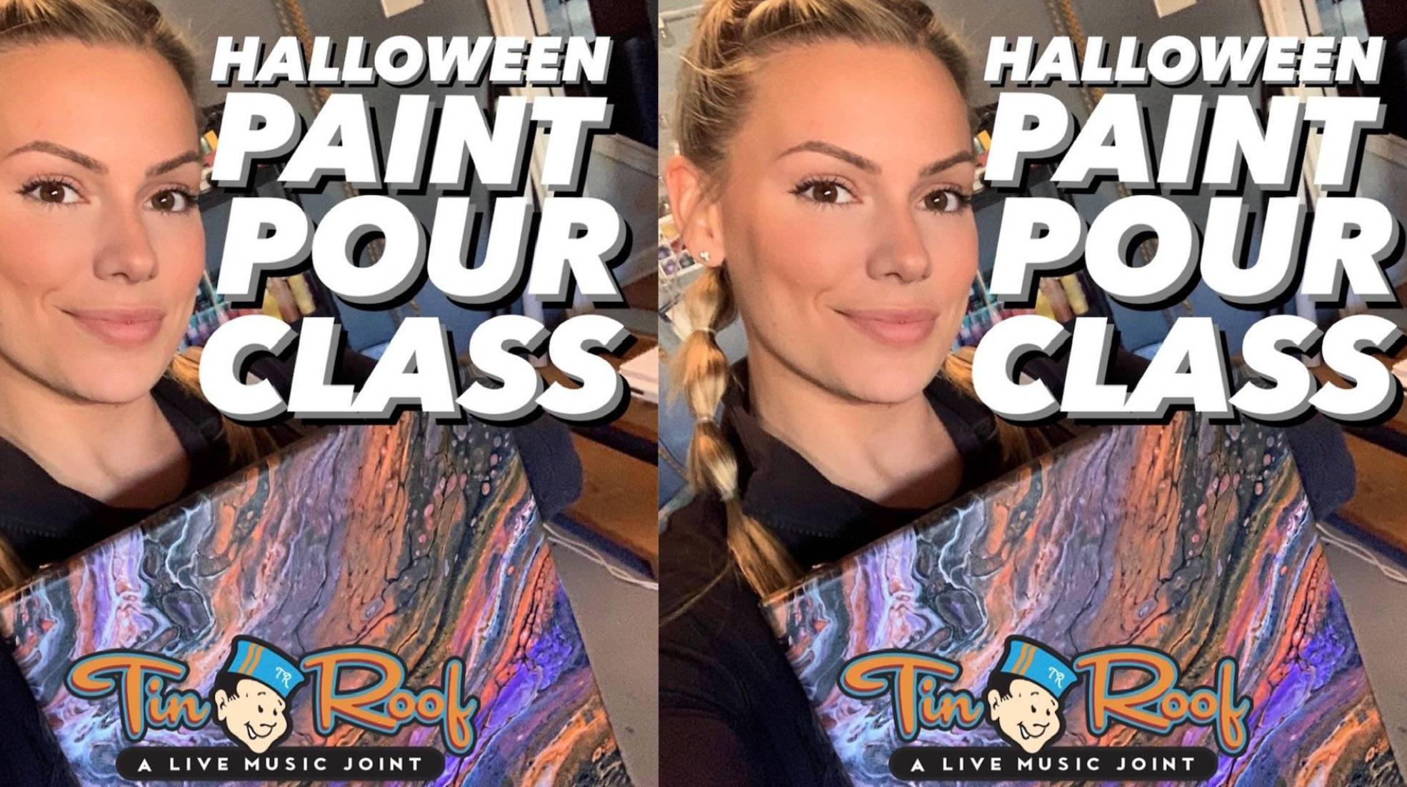Halloween Paint Pour Class