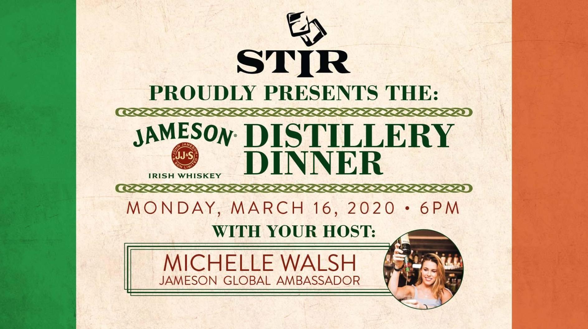The Jameson Distillery Dinner
