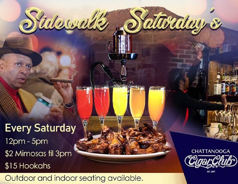 $2 Mimosas & $15 Hookah Saturdays