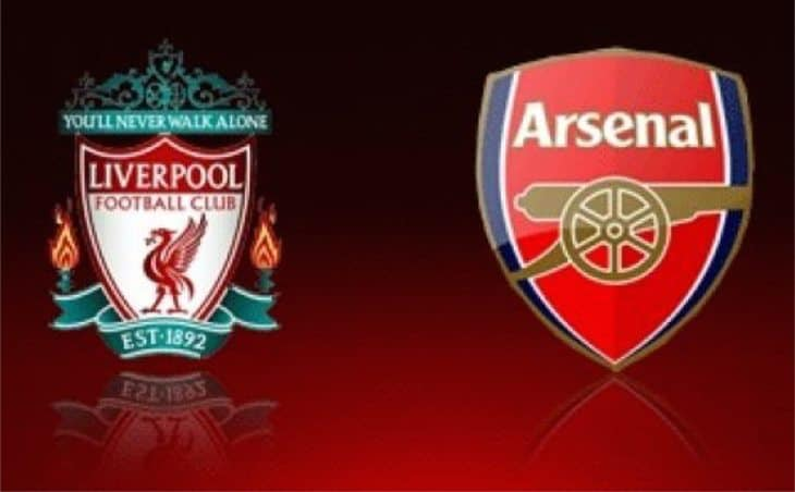 Liverpool v Arsenal at Fleet Street Pub