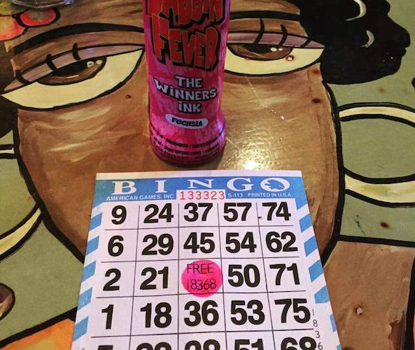 Bingo Night (8pm) & Happy Hour (4-7)
