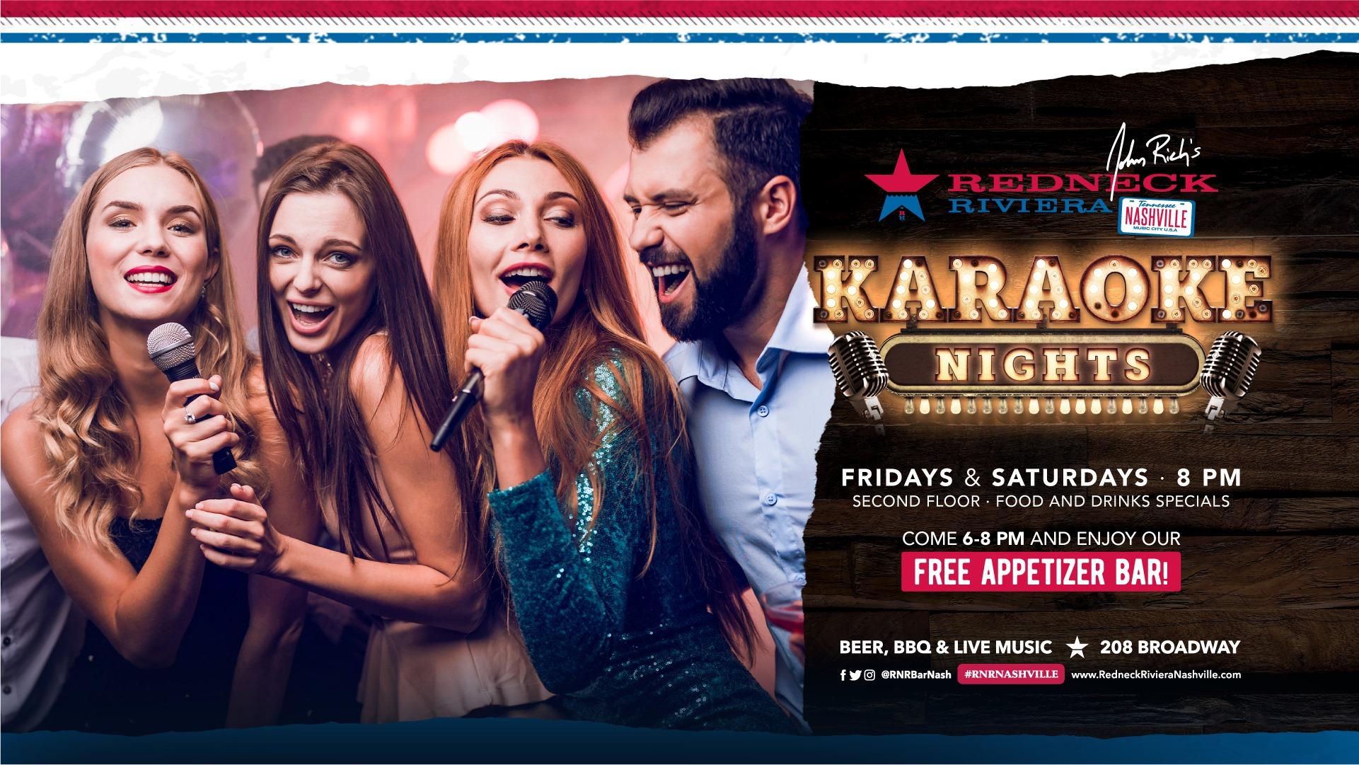 Karaoke Night w/ FREE Appetizer Bar!